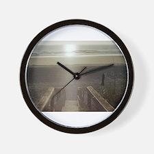 Beach Sunrise Wall Clock