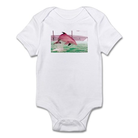 Infant Bodysuit with jumping dolphin picture