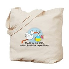 Stork Baby Ukraine USA Tote Bag