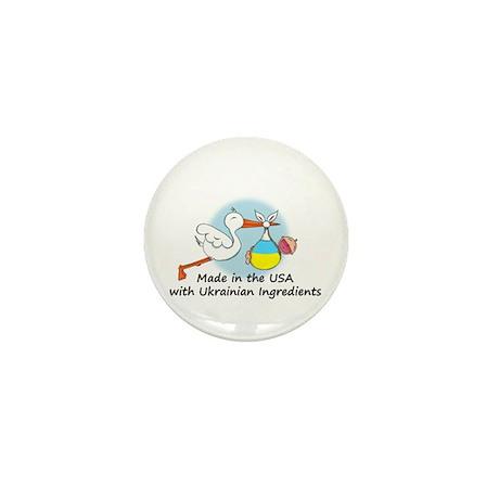 Stork Baby Ukraine USA Mini Button