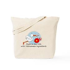 Stork Baby Vietnam USA Tote Bag