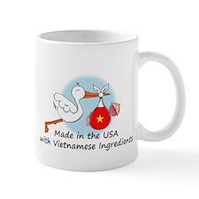 Stork Baby Vietnam USA Mug