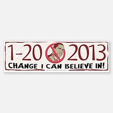2013 Change Anti Obama Bumper Bumper Sticker