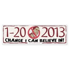 2013 Change Anti Obama Bumper Sticker