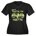 Easter Egg Hunter Women's Plus Size V-Neck Dark T-
