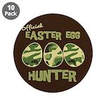 """Easter Egg Hunter 3.5"""" Button (10 pack)"""