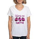 Easter Egg Hunter Women's V-Neck T-Shirt