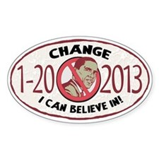 2013 Change Anti Obama Decal
