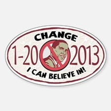 2013 Change Anti Obama Decal