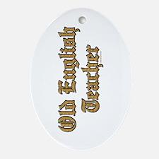 Old English Teacher Ornament (Oval)