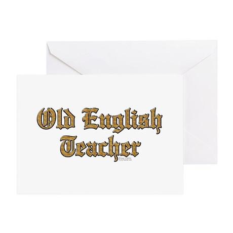 Old English Teacher Greeting Card
