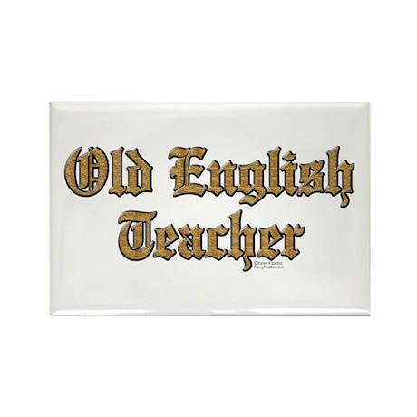 Old English Teacher Rectangle Magnet (100 pack)
