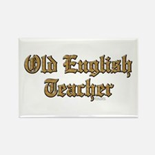 Old English Teacher Rectangle Magnet