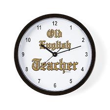 Old English Teacher Wall Clock