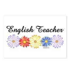 English Teacher Flowers Postcards (Package of 8)
