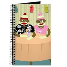 Sock Monkey Boy Girl Love Journal