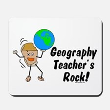 Geography Teacher's Rock Mousepad
