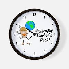 Geography Teacher's Rock Wall Clock