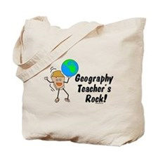 Geography Teacher's Rock Tote Bag