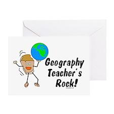 Geography Teacher's Rock Greeting Card
