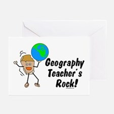 Geography Teacher's Rock Greeting Cards (Pk of 20)