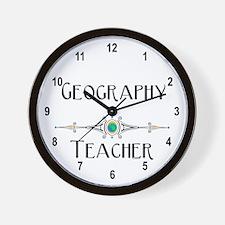 Geography Teacher Wall Clock