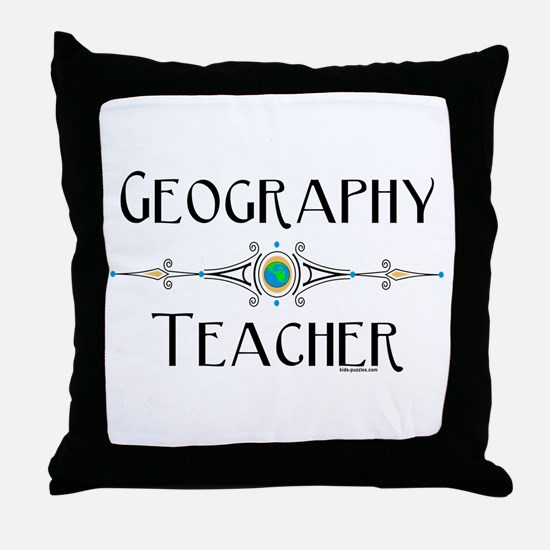 Geography Teacher Throw Pillow