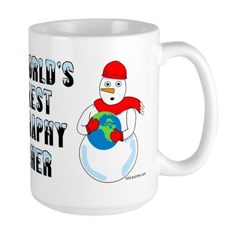 Cool Geography Teacher Large Mug