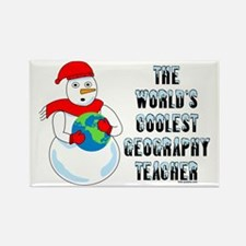 Cool Geography Teacher Rectangle Magnet