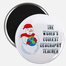 Cool Geography Teacher Magnet