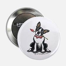"Boston Terrier Sweetheart 2.25"" Button"