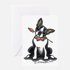 Boston Terrier Sweetheart Greeting Card