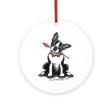 Boston Terrier Sweetheart Ornament (Round)