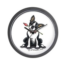 Boston Terrier Sweetheart Wall Clock