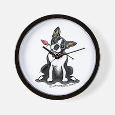 Boston Terrier Sweetheart Wall Clock