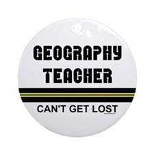 Geography Teacher Ornament (Round)
