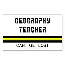 Geography Teacher Sticker (Rectangular)