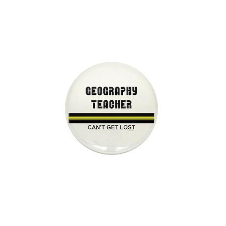Geography Teacher Mini Button