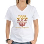 Tiger Woods Mistress Beauty P Women's V-Neck T-Shi