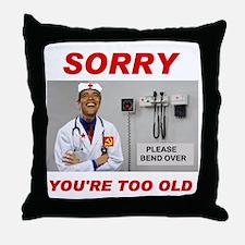 NO ROOM FOR SENIORS Throw Pillow