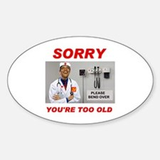 NO ROOM FOR SENIORS Decal