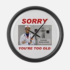 NO ROOM FOR SENIORS Large Wall Clock