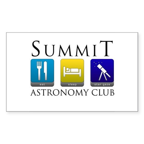 Summit Astronomy Club - Stargaze Sticker (Rectangl