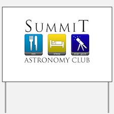 Summit Astronomy Club - Stargaze Yard Sign