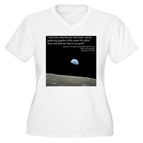 Earth Space Inspirational Women's Plus Size V-Neck