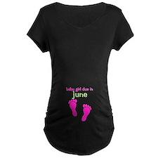 Baby Girl Due June T-Shirt