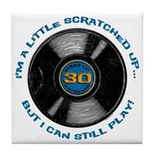 Scratched Record 30th Birthday Tile Coaster