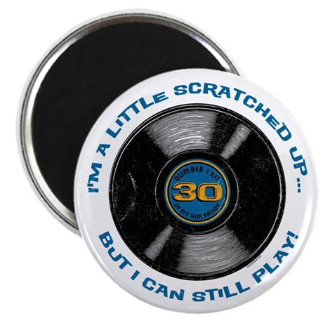 Scratched Record 30th Birthday Magnet