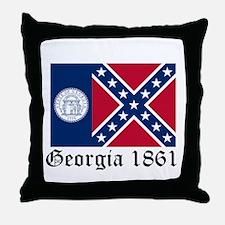 Secede Georgia Throw Pillow