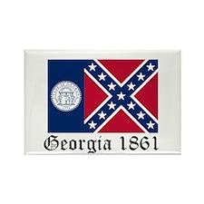 Secede Georgia Rectangle Magnet (10 pack)